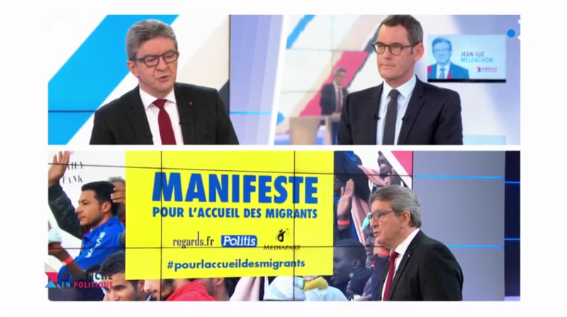 MANIFESTE MIGRANTS MELENCHON MEDIA DIXIT WORLD