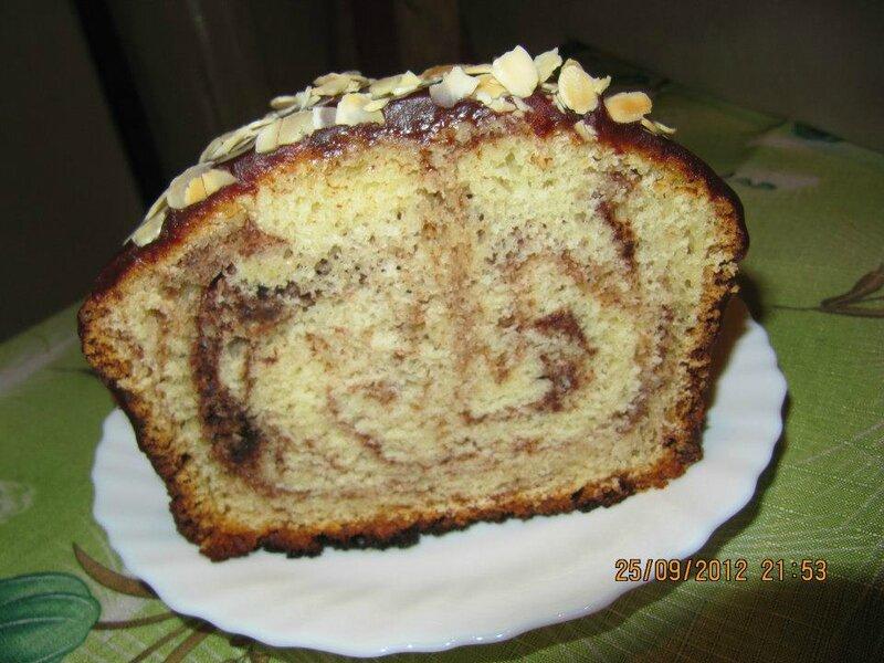 Шоколадно-ванильный кекс