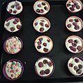 Muffins aux framboises et smarties