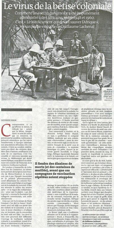 arrticle Le Monde sur virus bêtise coloniale