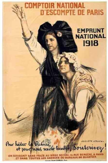 Emprunt national 1918 Auguste LEROUX