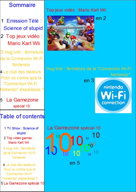 Sommaire Hug journal n°10