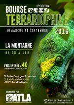 Affiche Bourse terrariophile La Montagne