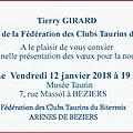 Béziers - voeux aux aficionadas et aficionados