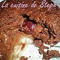 Mini soufflé chocolat coeur de cerise