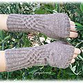 knotty gloves version mitaine