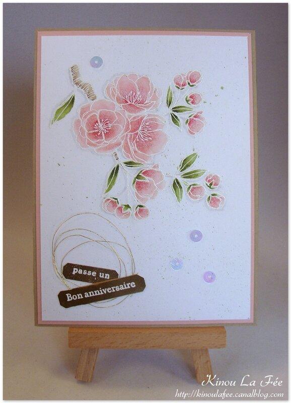 Carte Branche Cerisier Aquarelle 1