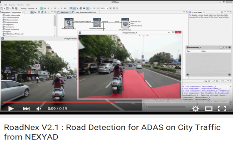 NEXYAD Adas Road detection on urban traffic with RoadNex