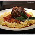 Paupiettes de boeuf aux tomates et courgette