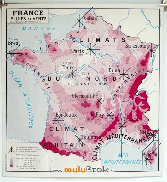 CARTE-FRANCE-Pluies-et-Vents-1-muluBrok-Brocante-en-ligne