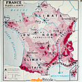 Collection ... carte france voies navigables / pluies et vent