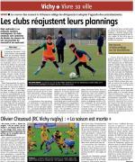 2021-01-13 Les clubs réajustent leurs plannings