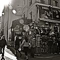 Instantané rue de la Huchette.