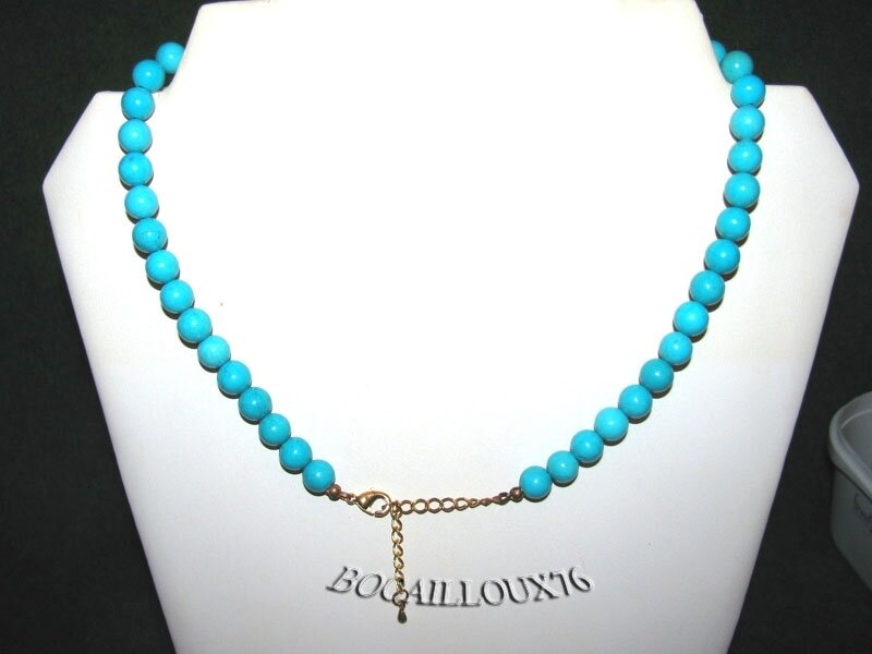 Collier Perles HOWLITE Turquoise 1 (3)