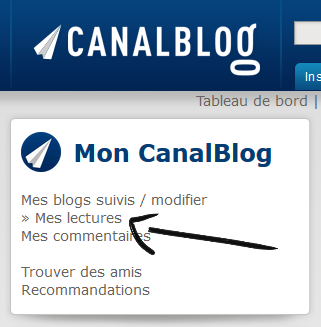 mon canalblog lectures