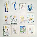 Images aquarelle pour communion