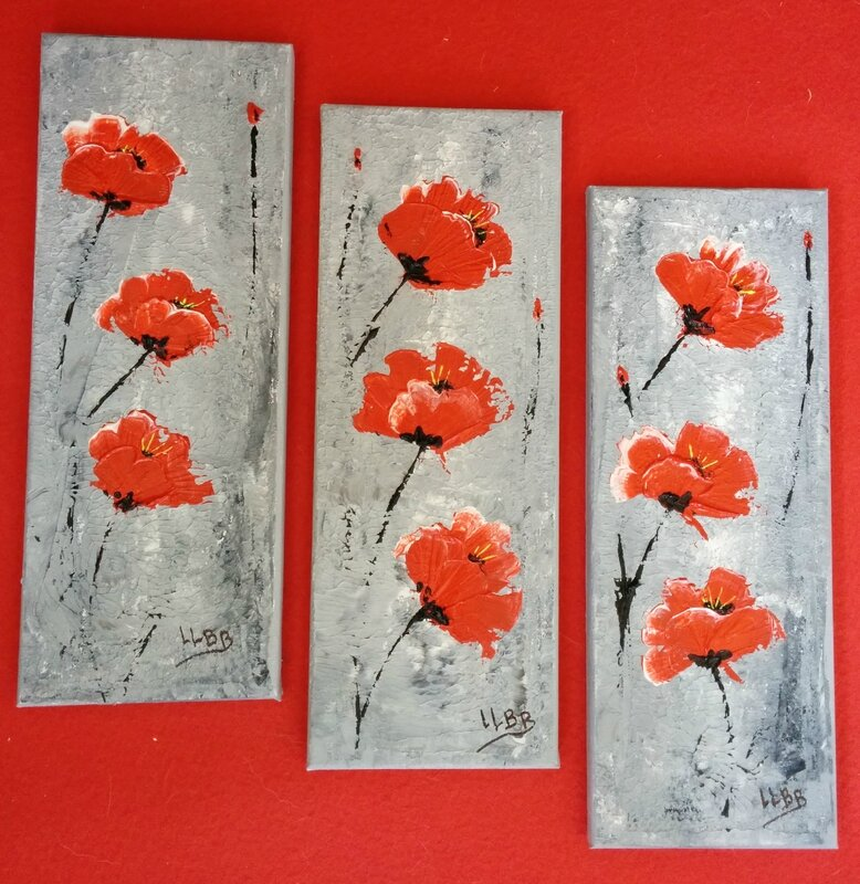 2014 06 13 tryptique poppies rouge et blanc