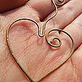 Marque page pour la st valentin