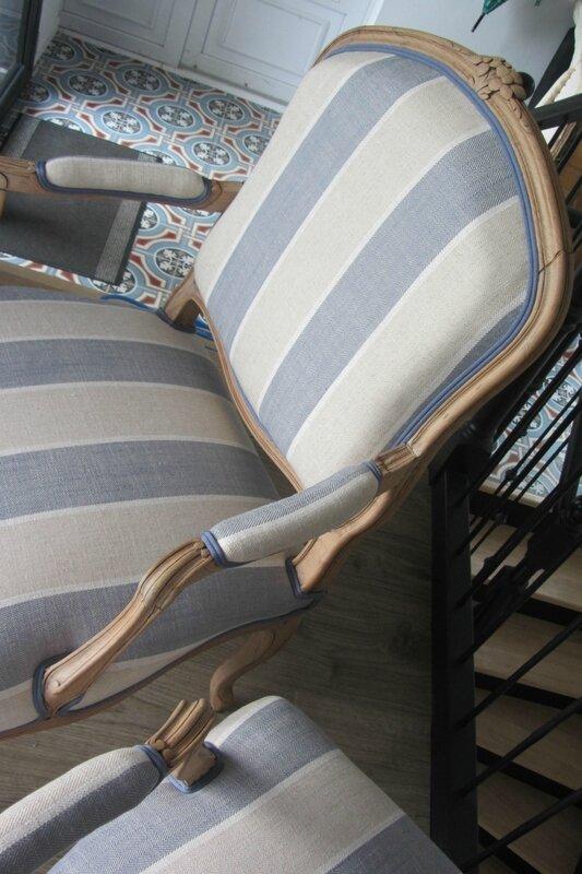 retapisser un fauteuil à Brest, vente de tissu