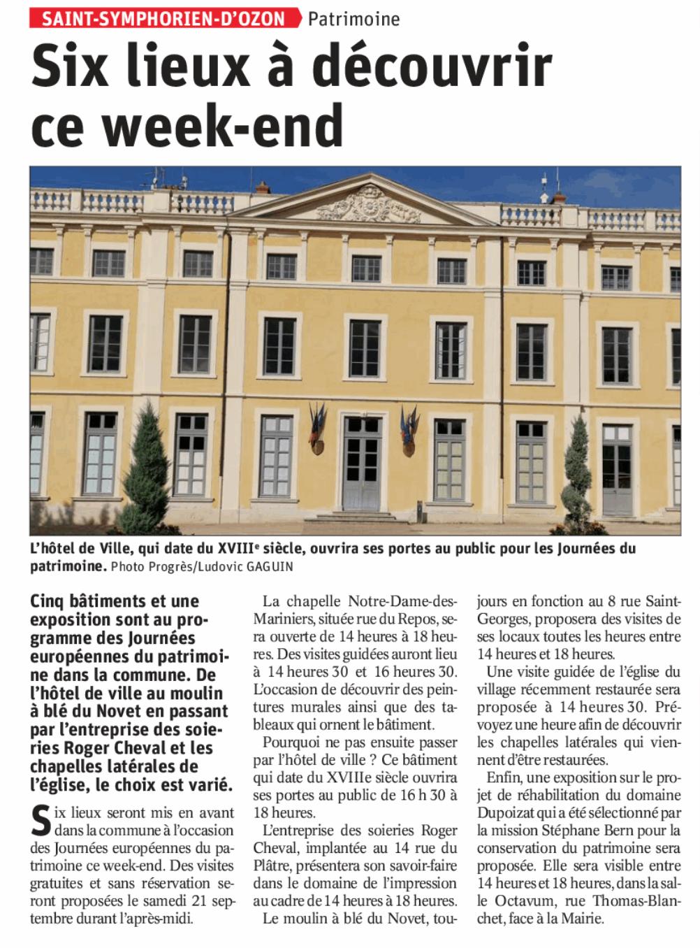 Saint-Symphorien d'Ozon = Patrimoine