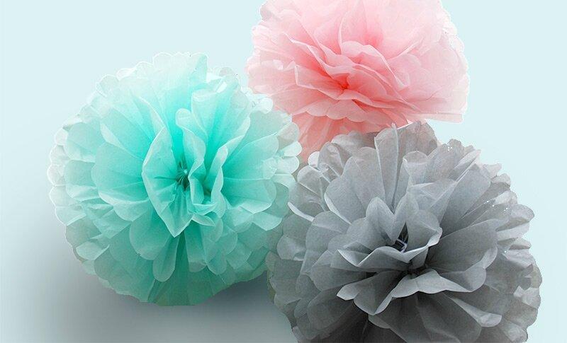 pompons pastels