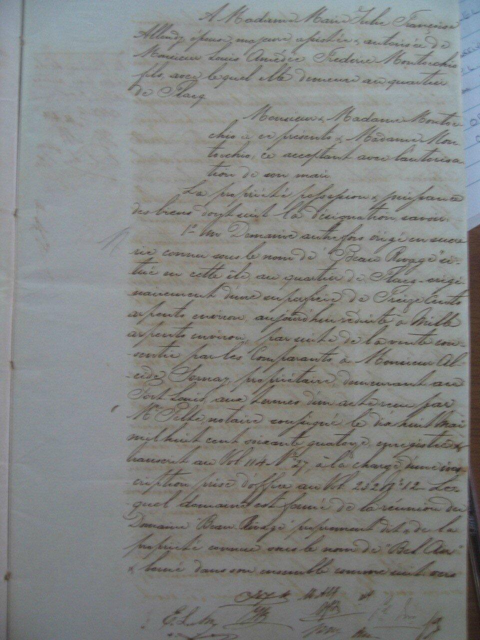 Beau Rivage_Contrat de vente 1878 p4_Marie Helene SHIM