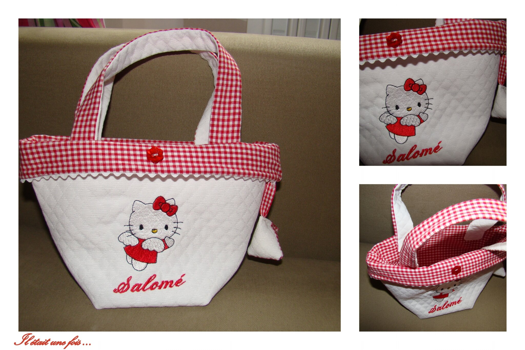 Sac Hello Kitty vichy rouge