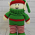 Festive friends - elf - knitting by post