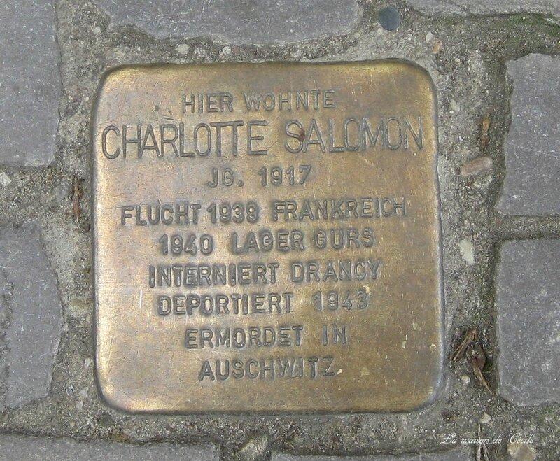 Stolperstein Charlotte Salomon