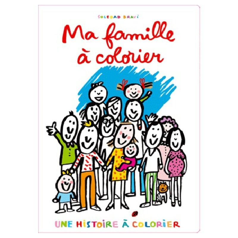 Ma famille à colorier - Soledad Bravi