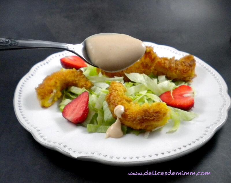 Salade de crevettes panées et sauce cocktail rapide 3