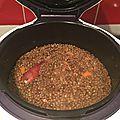 Lentilles aux saucisse de montbelliard au cookeo