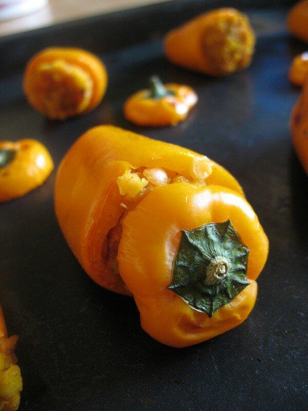 mini poivrons oranges farcis orange