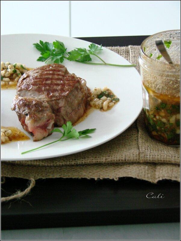 Médaillons de Filet de Boeuf & Pommes de Terre aux Champignons, Chimichurri au Chèvre 007