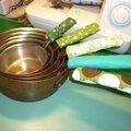 Des poignées pour batterie de casseroles chaudes pour Mickaël