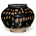 A russet-splashed blackish-brown-glazed jar, Northern Song dynasty, 12th century