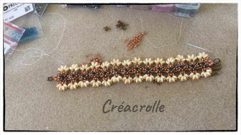 Bracelet SD Scallopedbrown