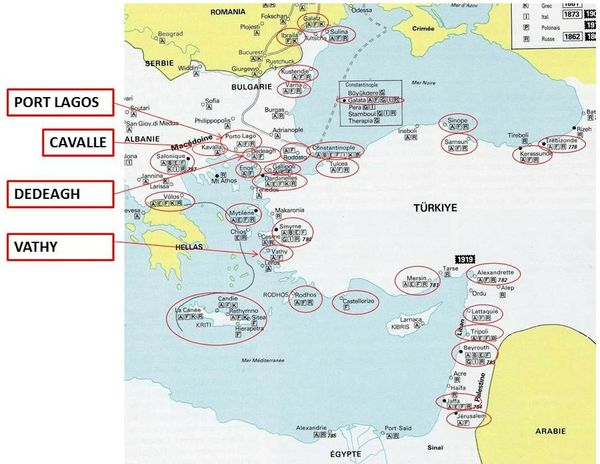 Carte Levant Francais