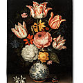 Ambrosius bosschaert the elder, a still life of a porcelain vase with a gilt-mounted base, holding a floral bouquet