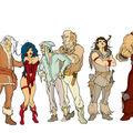 Les personnages en couleurs