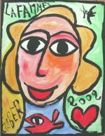 JABER La femme de coeur 2002 50 x 65