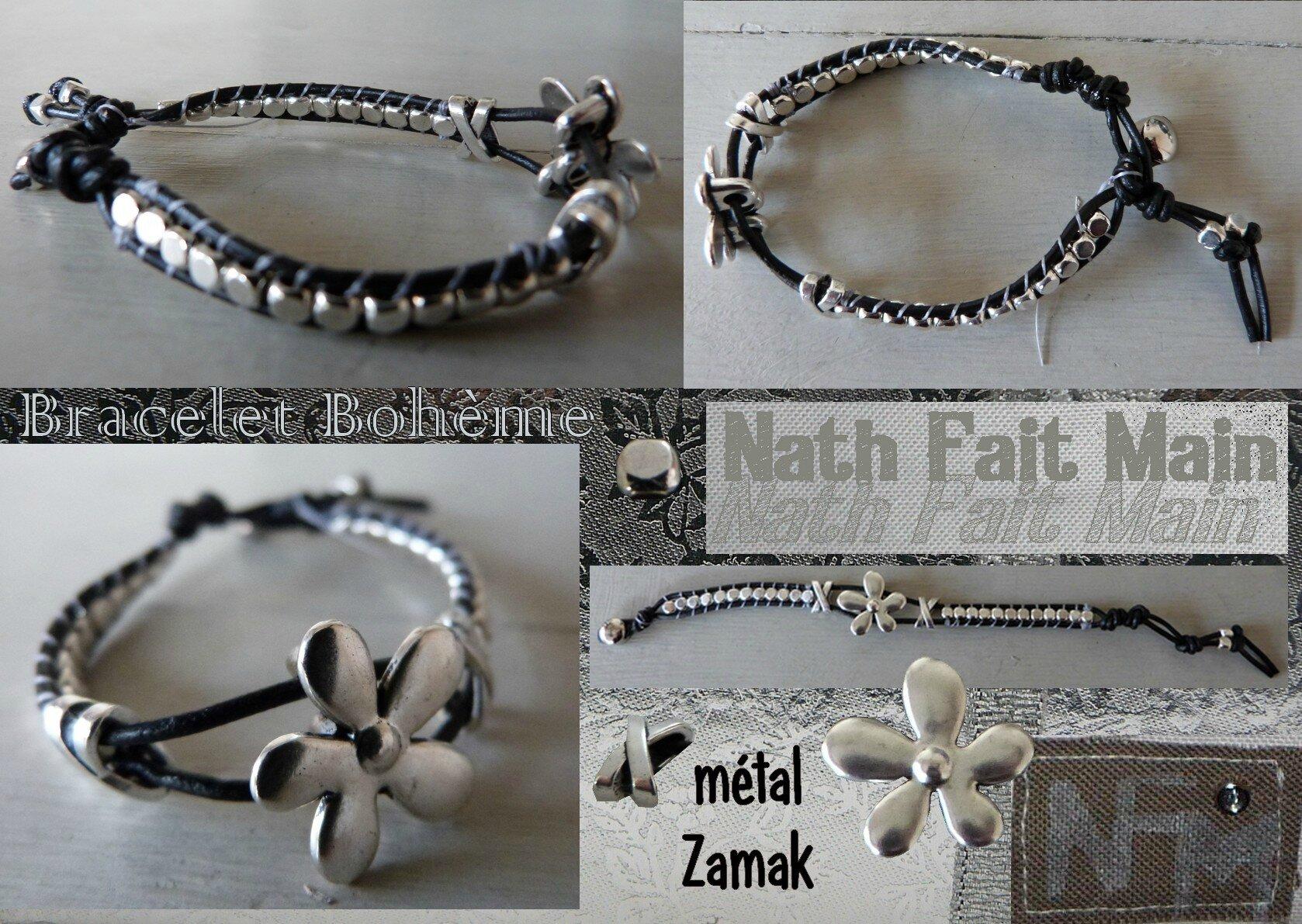 Bracelet macramé métal Zamak (0)