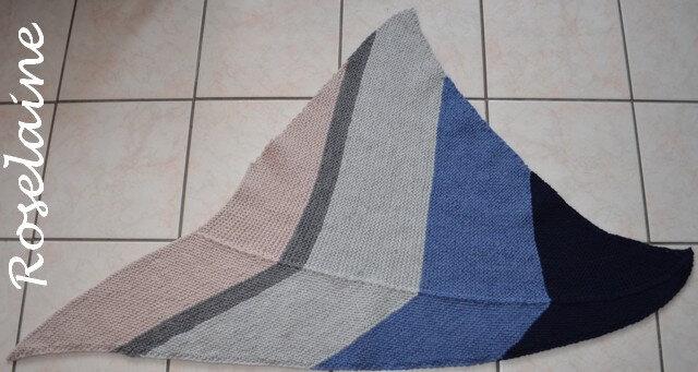 Roselaine Asymmetrical shawl 1