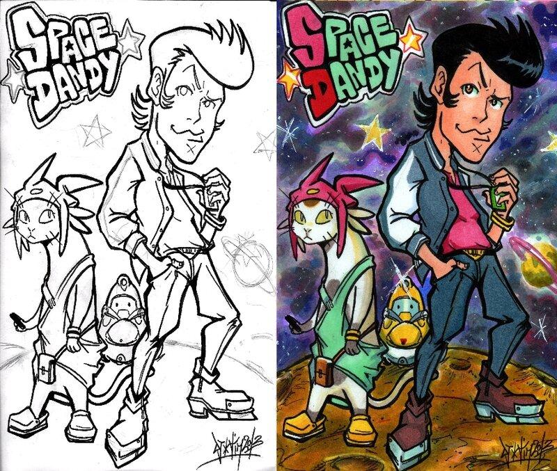 Fanart Space dandy shinichiro watanabe bones wakanim simulcast meow cowboy bebop kids on the slope samurai champloo Djiguito chocoblog de djigui tim