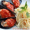 Moules au barbecue coulis de tomates à l'ail