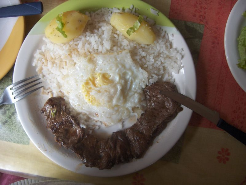 Smily steak in Samaipata