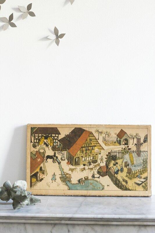 Illustration ferme à l'étang chambre enfant TRENDY LITTLE 5
