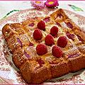 Gâteau hypermoelleux chocolat blanc, framboises