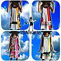 Les tendances printemps/eté 2013 pour un look graphique et structuré : adoptez votre robe unique et fantaisie isamade !