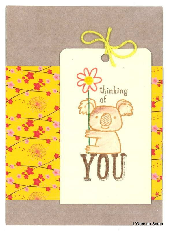 carte kind koala stampin up stabilos p68